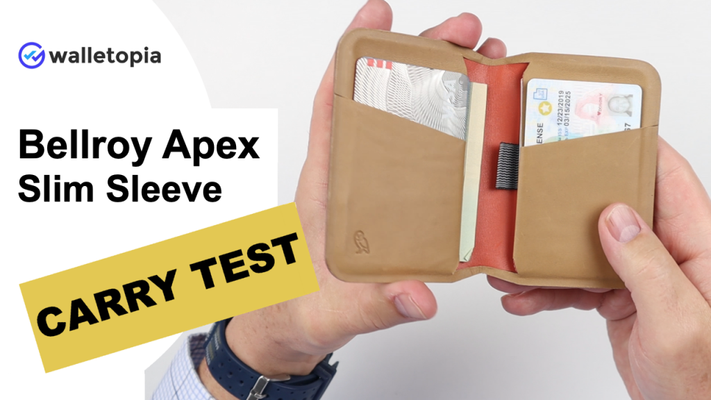 Bellroy Apex Slim Sleeve carry test