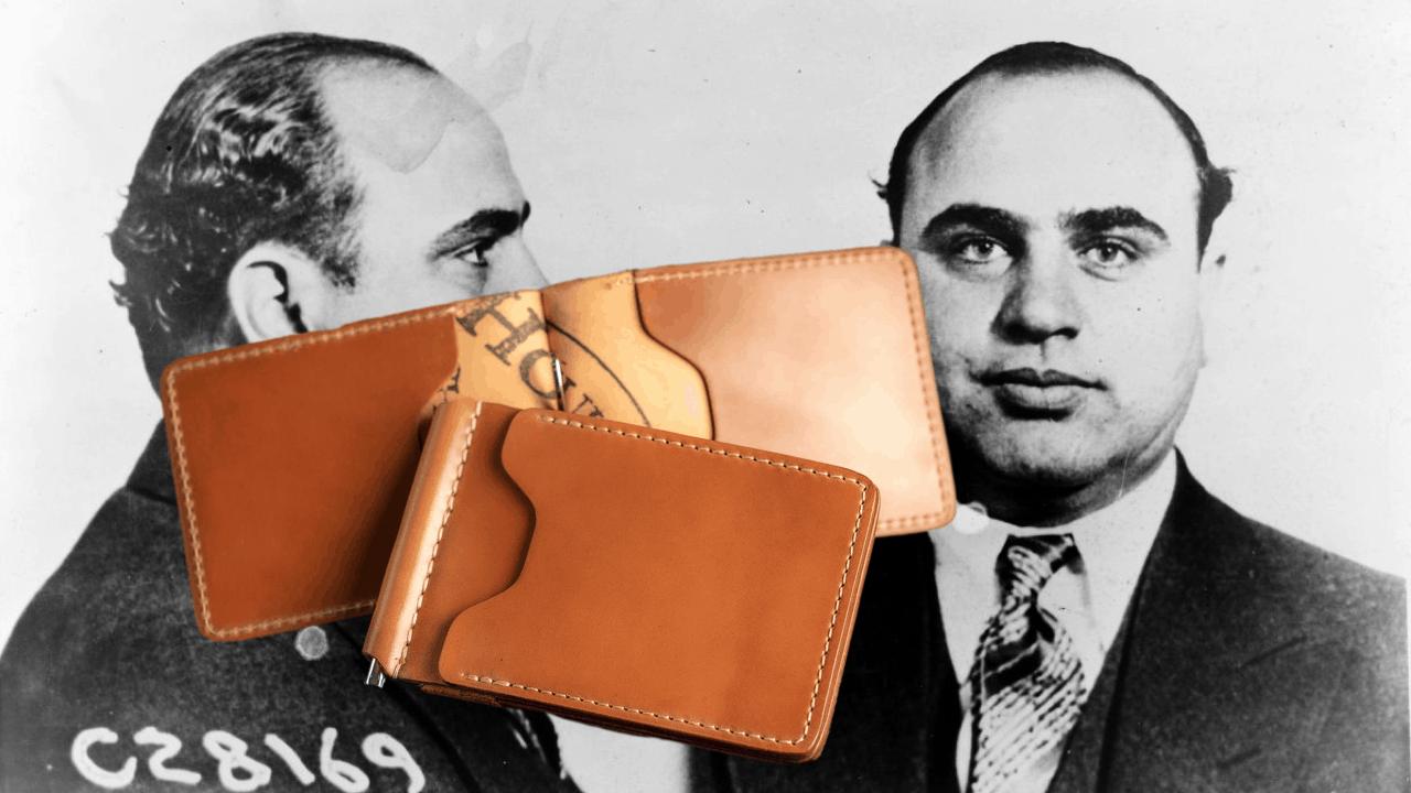 Ashland Leather Capone money clip wallet