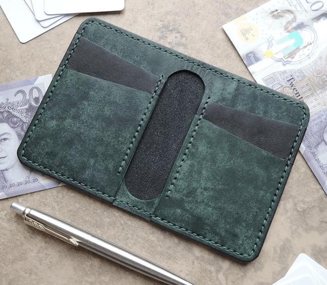 EJV Leather 4 pocket bifold wallet